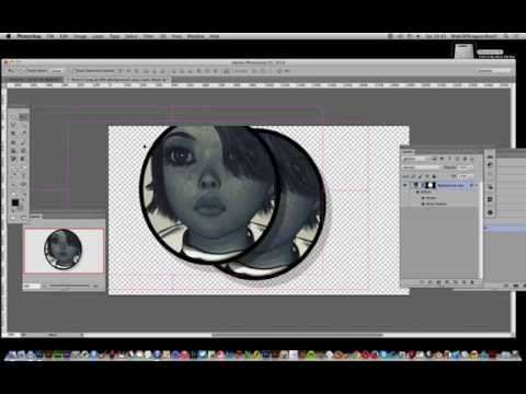 Crop image in circle shape using Photoshop tutorial