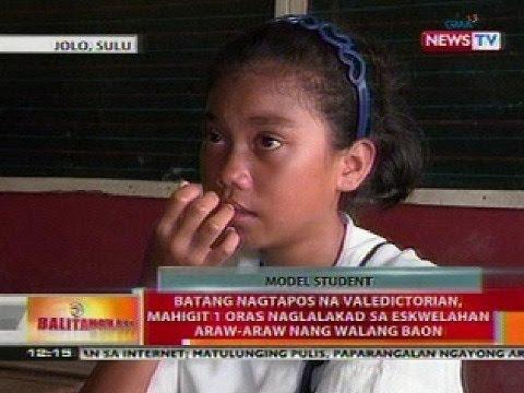 BT: Batang nagtapos na valedictorian sa Sulu, mahigit 1 oras naglalakad sa eskwelahan
