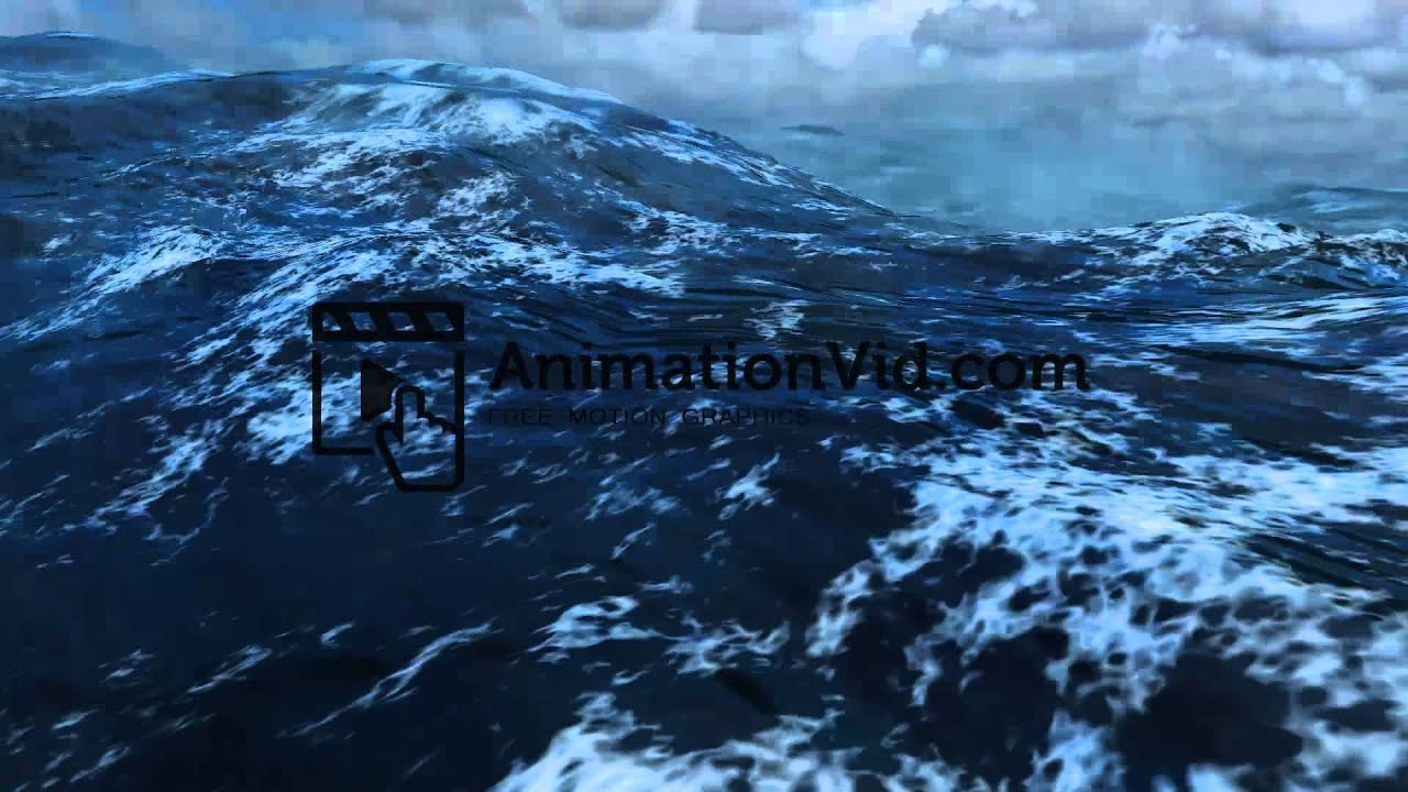 Storm at Sea Waves Motion Background - YouTube
