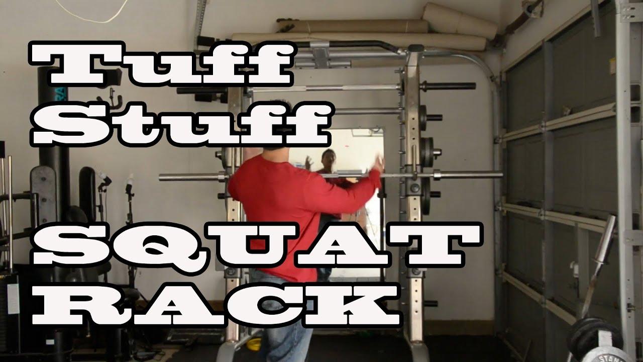 Squat Rack Review Tuff Stuff Power Rack Youtube