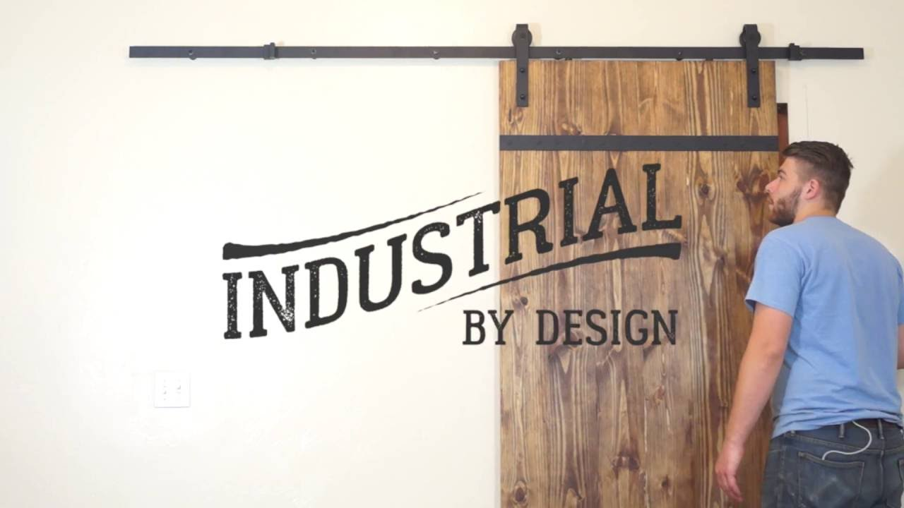 Bon Step By Step Barn Door Hardware Installation   Industrial By Design    YouTube