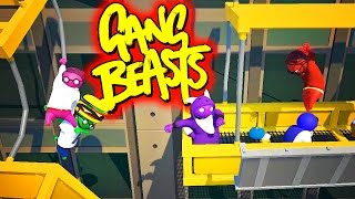 TACTICAL BURGER ADVANTAGE!! Funniest Fighting Game Ever - GANG BEASTS (Funny Moments) | HikePlays