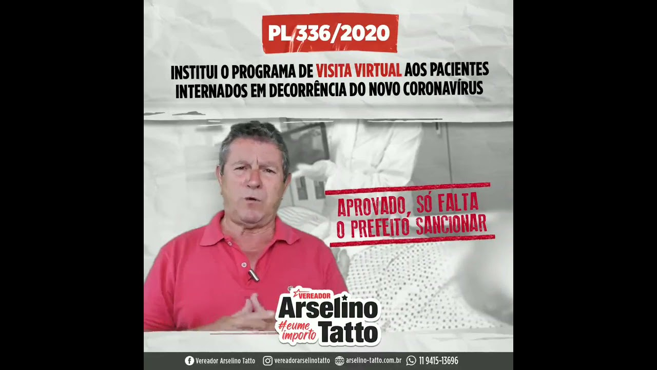 Visita virtual para pacientes com Covid-19 pode se tornar lei na cidade de São Paulo