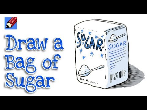 How to draw a Bag of Sugar Real easy for Kids and Beginners