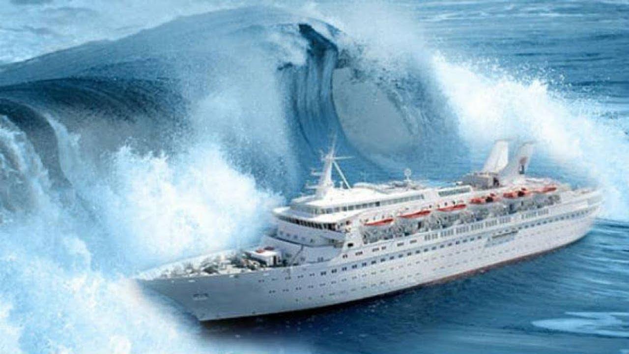 Cruise Ship Storm At Sea Youtube