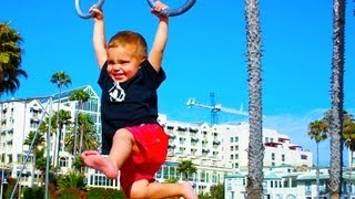 2 YEAR OLD DOMINATES BEACH RINGS!
