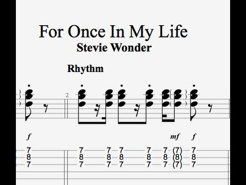 For Once In My Life Guitar Lesson Youtube