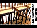 Making Live Edge Maple Bar stools DIY w/free plans