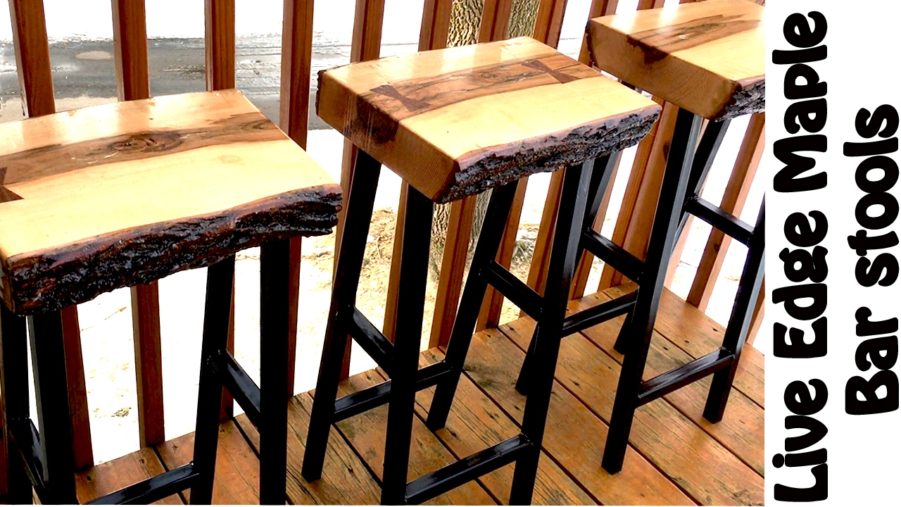 Making Live Edge Maple Bar Stools Diy W