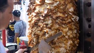 Ultimate Crispy Chicken | Beef Doner Kebab on Rotating Skewer - Singapore Street Food