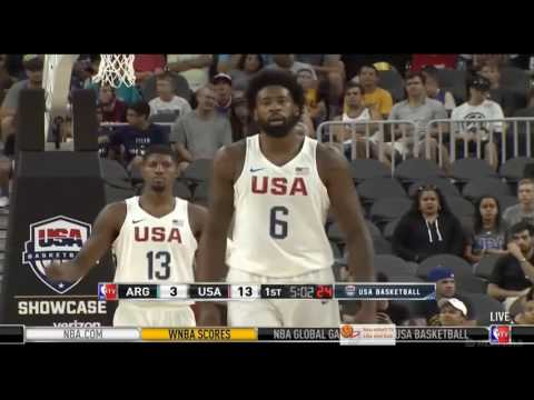Highlights Argentina VS USA 2016 Olympic Basketball Exhibition FULL HD 720p
