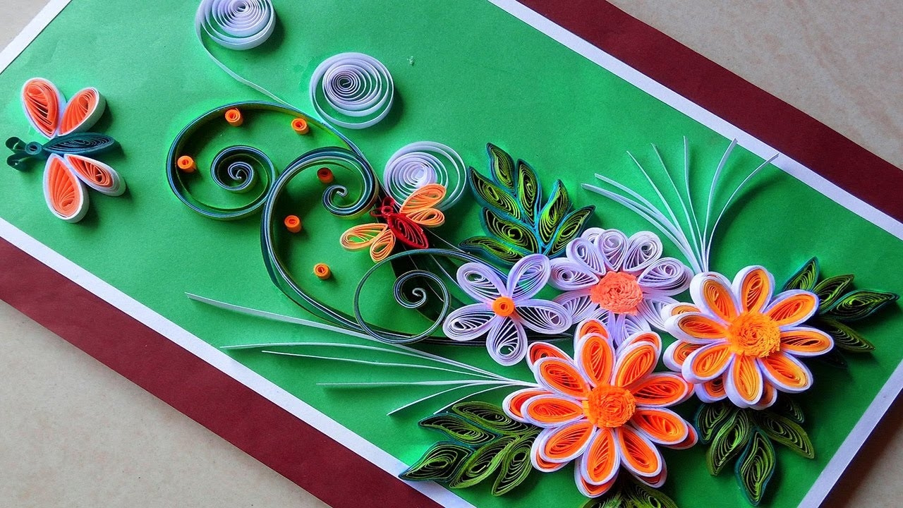 Quilling cards how to make paper quilling greeting card 2017 quilling cards how to make paper quilling greeting card 2017paper quilling art kristyandbryce Choice Image