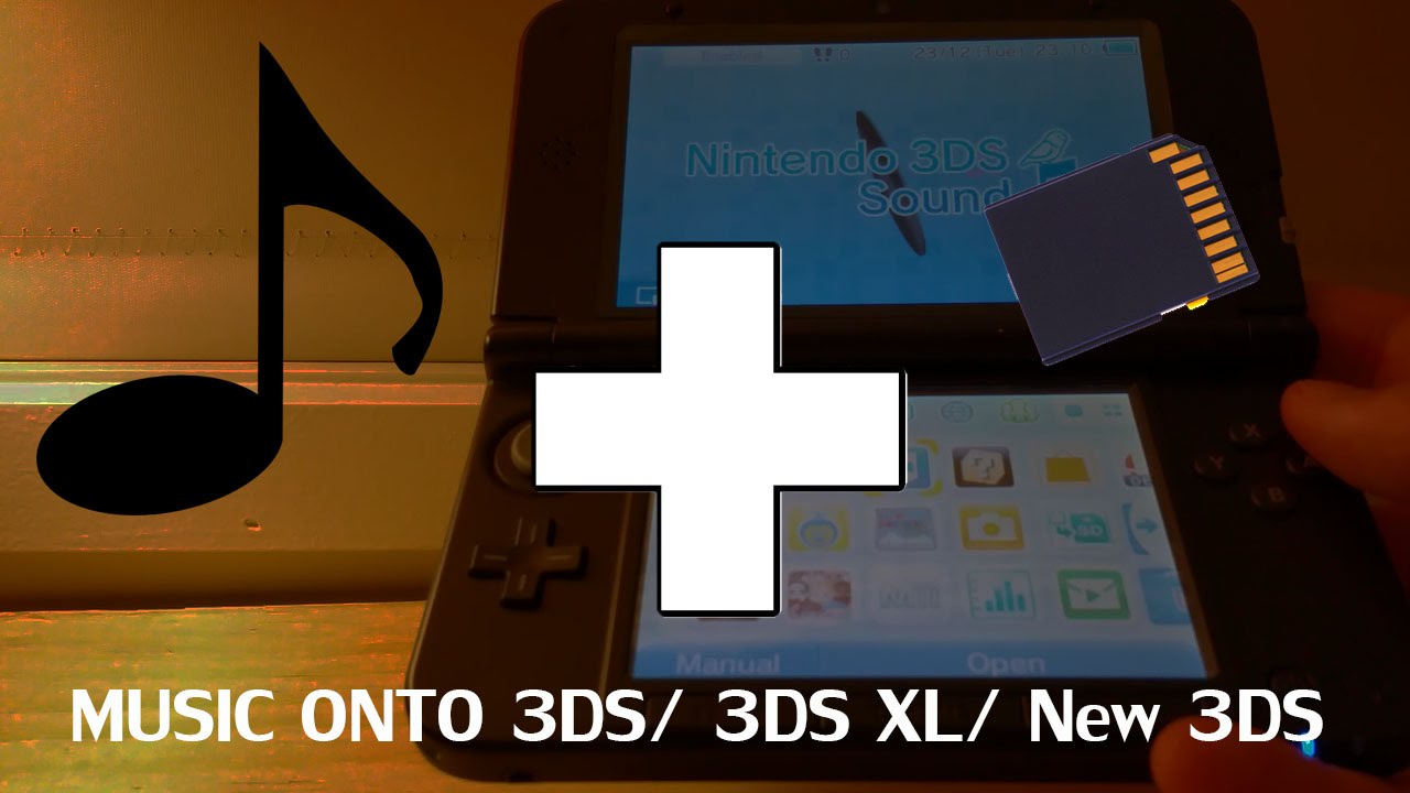how to put music onto your nintendo 3ds 3ds xl new 3ds. Black Bedroom Furniture Sets. Home Design Ideas