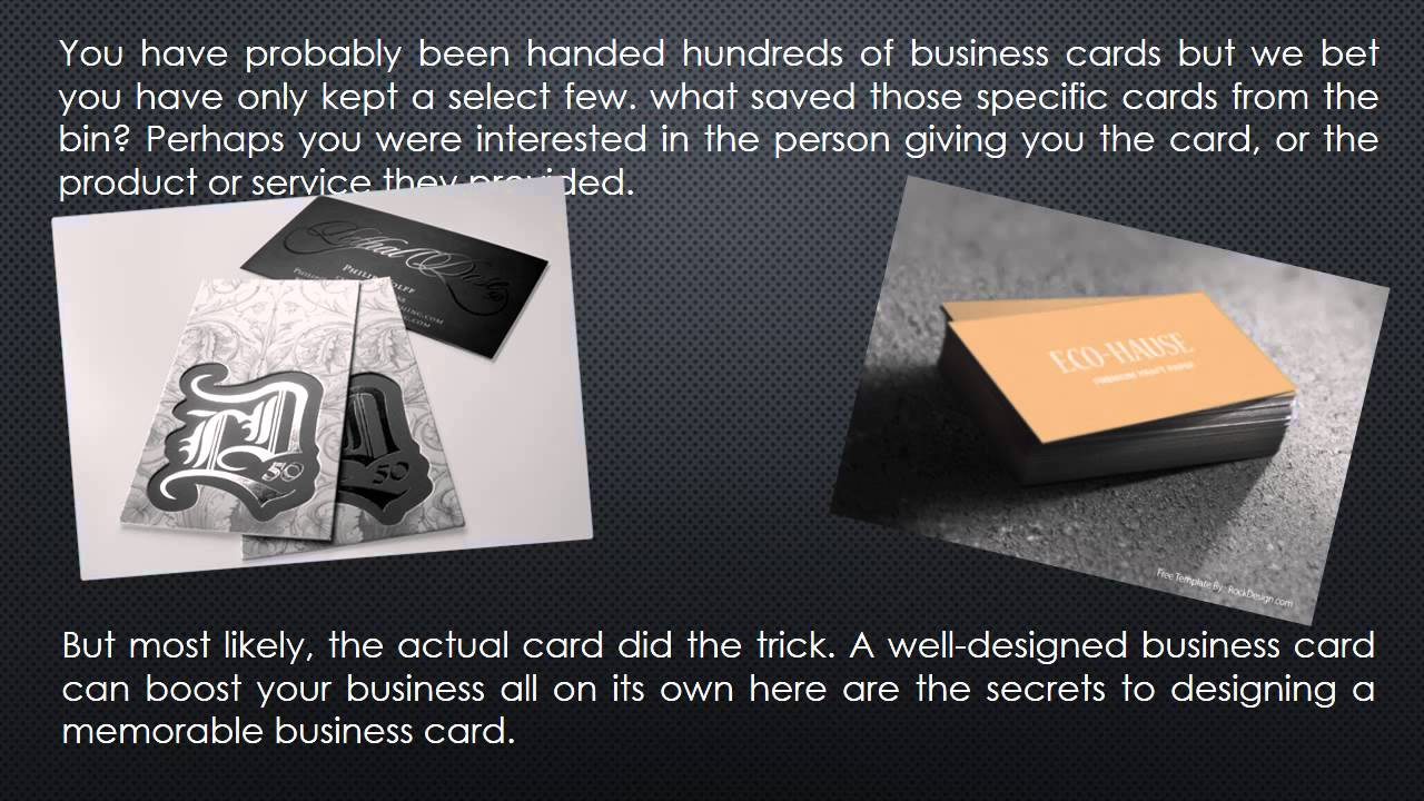 What Information Should Be Put On Your Metal Business Card Youtube