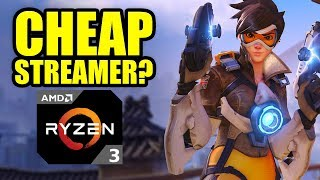 RYZEN 3 - BEST *CHEAP* CPU for Game Streaming? TESTED