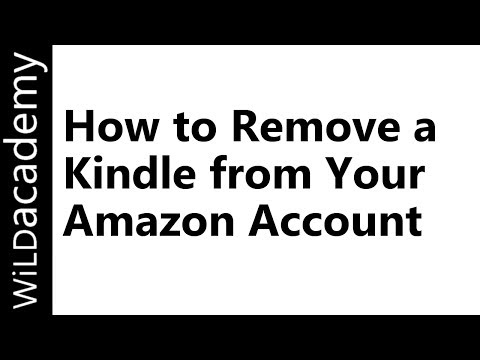 How to Remove a Kindle from Your Amazon Account - YouTube