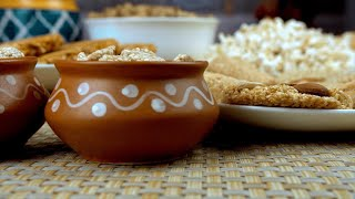 Closeup shot of edible items consumed during the Lohri and wintertime in India