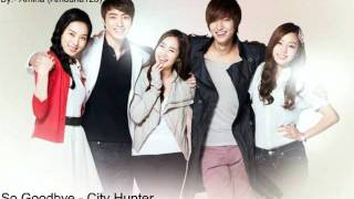Jonghyun (So Goodbye) - City Hunter + Lyrics