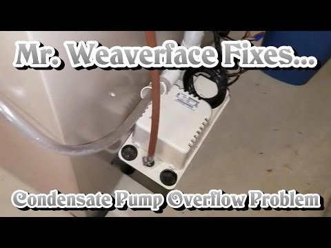 The DIY How to Fix Condensate Pump Drain Line Problem: EASY 3 DOLLAR FIX!