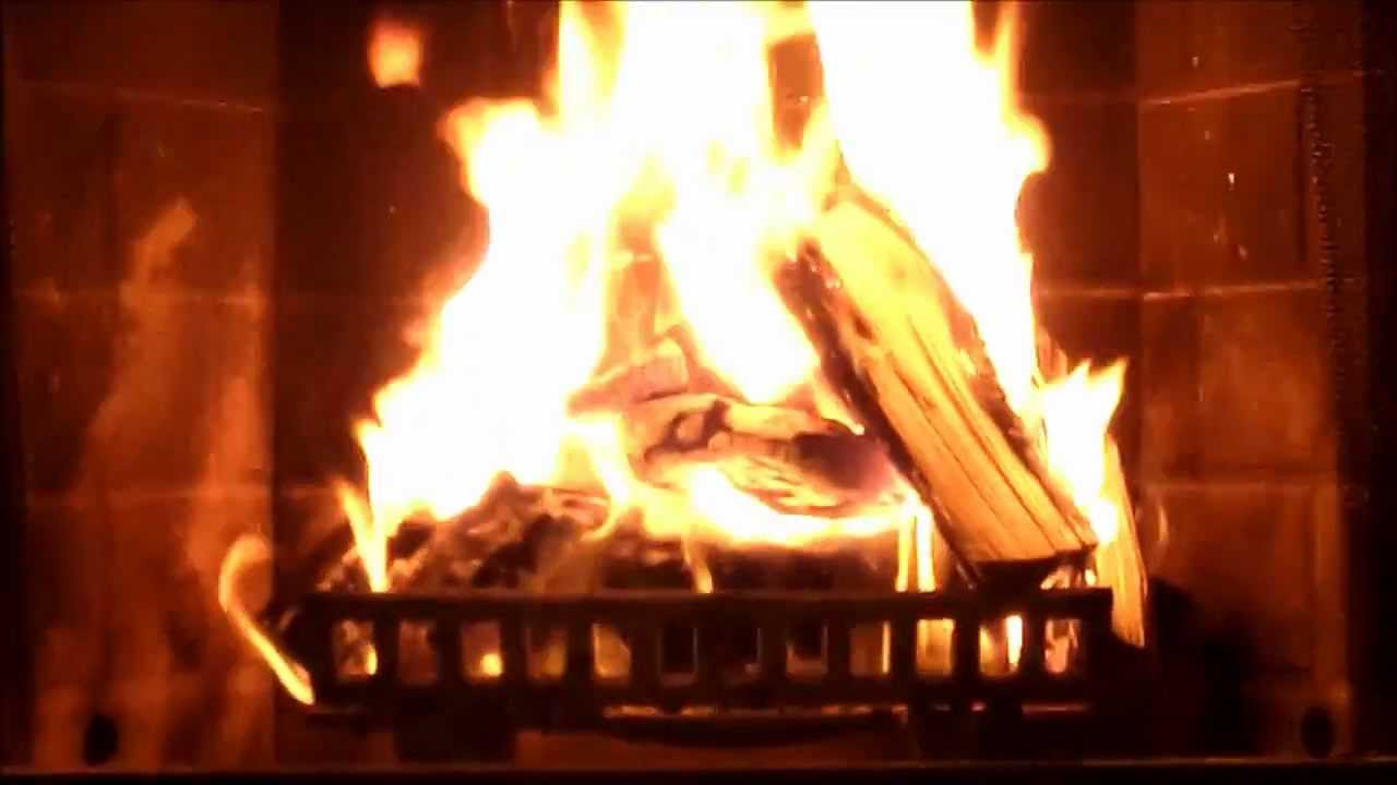 Fireplace video with sound in HD - YouTube
