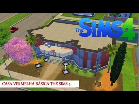 Casa vermelha b sica e moderna the sims 4 youtube for Casa moderna sims 3 sin expansiones