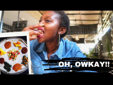 KENYAN Trying  Ethiopian Vegetarian Food FOR THE FIRST TIME /RELIVING MEMORIES