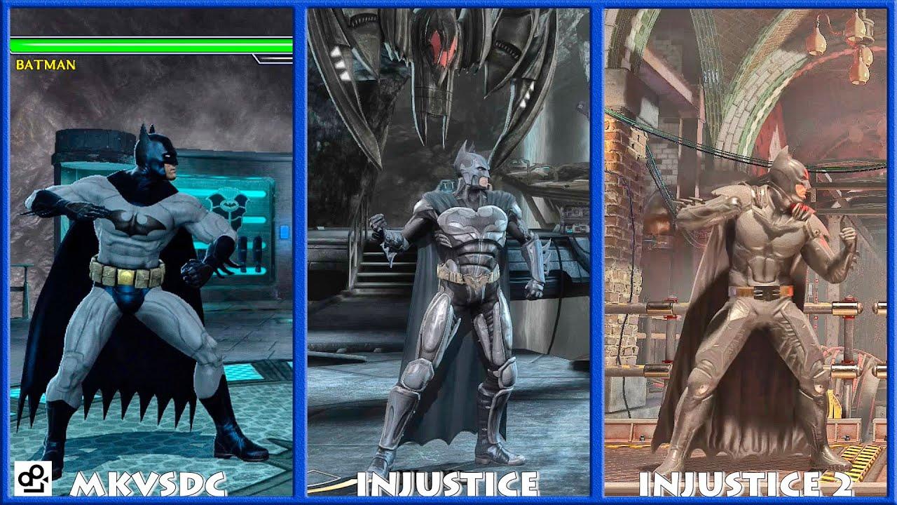 Dc Universe Mkvsdc Injustice Batman Graphic Evolution 2008