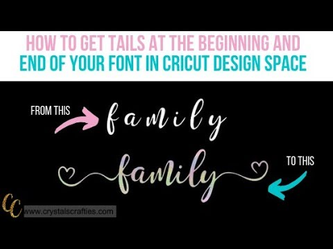 How To Add Tails To Font In Design Space