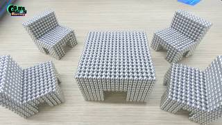 DIY - How To Make Tables and Chairs with Magnetic Balls | Satisfying and Relax