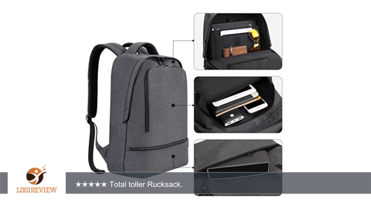 reyleo laptop rucksack herren daypack business backpack tagesrucksack f r die arbeit und uni. Black Bedroom Furniture Sets. Home Design Ideas