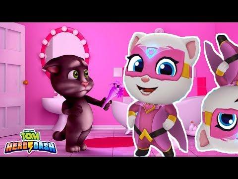 Talking Tom Hero Dash - Angela - Gameplay Mobile, Android