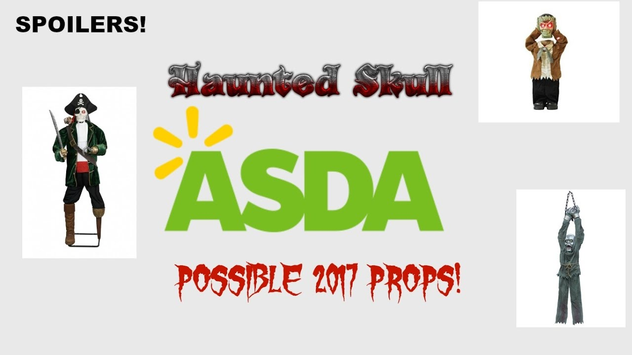 possible asda halloween 2017 props preview haunted skull