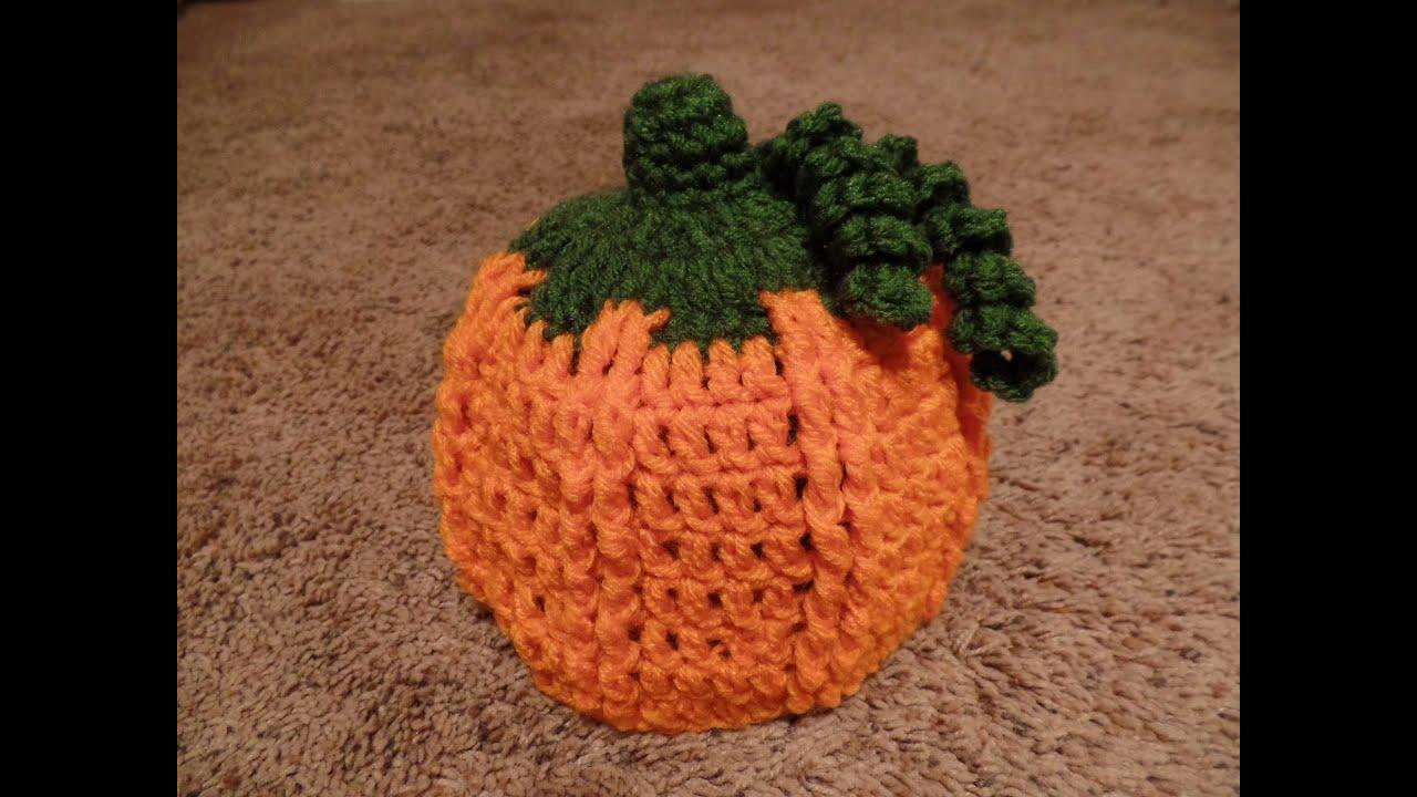 Crochet How To Crochet Child Pumpkin Beanie Hat Tutorial 267