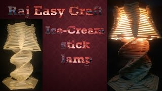 how to make ice cream stick lamp raj easy craft