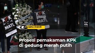 Prosesi pemakaman KPK di gedung merah putih