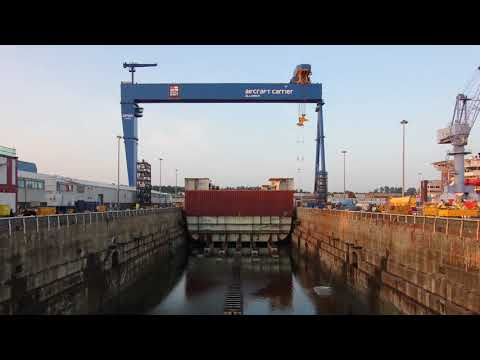 HMS Prince of Wales construction time-lapse
