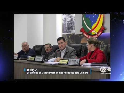 Ex-prefeito de Caçador tem contas rejeitadas pela Câmara