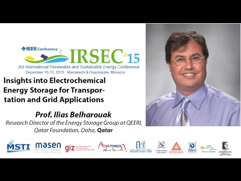 Prof. Ilias Belharouak, Keynote Speaker in IRSEC'15