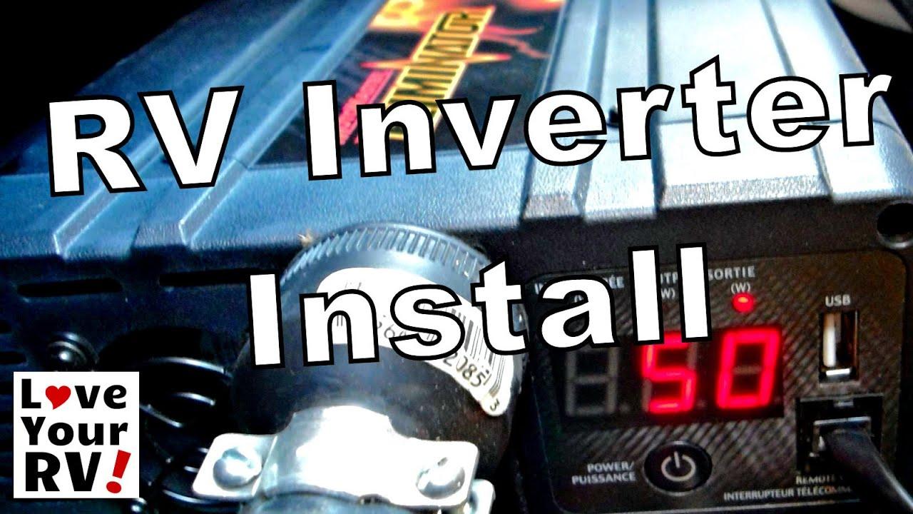 rv inverter wiring diagram 2004 chrysler sebring fuse box 1000w pure sine wave - install youtube