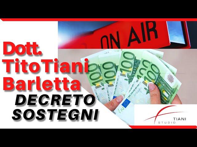DECRETO SOSTEGNI - STUDIO TIANI BARLETTA