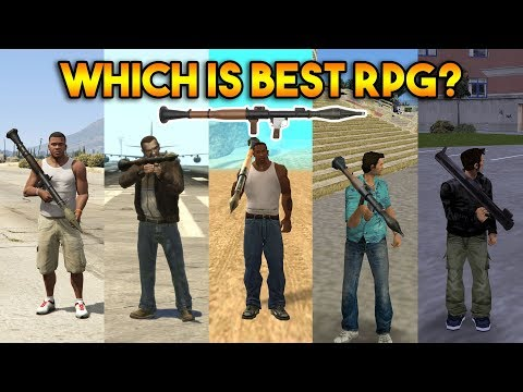 GTA : WHICH IS BEST RPG IN ALL GTA? (GTA 5, 4, SA, VC, 3, 2, 1)