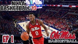 Can We Turn A Football School Into A Basketball Powerhouse?? | NCAA Basketball 10 OLE MISS Dynasty