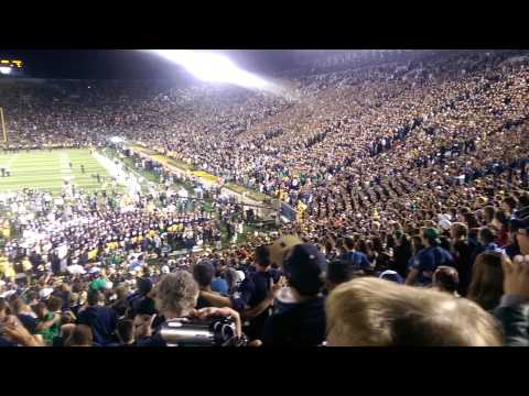 Notre Dame Alma Mater - Michigan Game