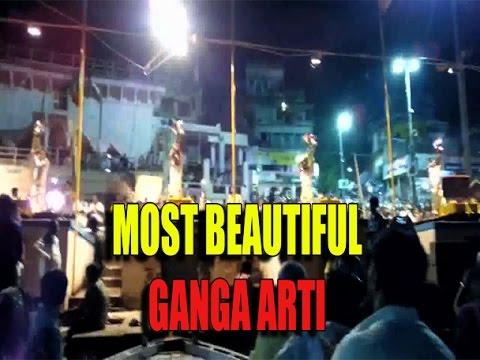 Walking in Varanasi ghat/Famous & Beautiful Ganga Arti in Banaras(MUST WATCH)2