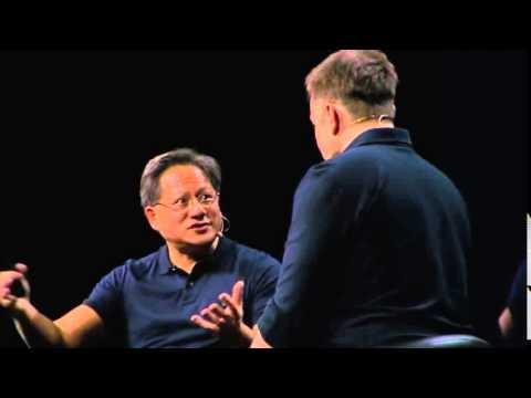 GTC 2015  NVIDIA CEO Jen Hsun Huang Interviews Tesla Motors CEO Elon Musk