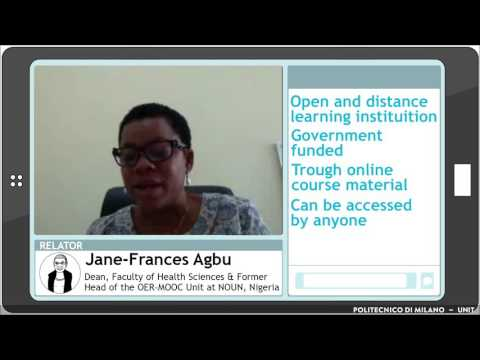 Are OERs a possible way to go? (Jane-Frances Agbu)
