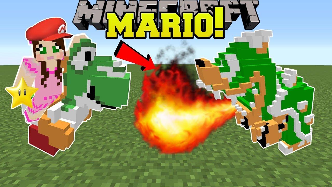 Minecraft: SUPER MARIO!!! (YOSHI, BOWSER, & GOOMBAS!) Mod Showcase