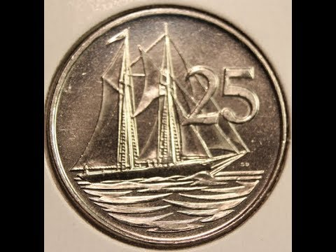 25 Cents coins of CAYMAN ISLANDS in HD