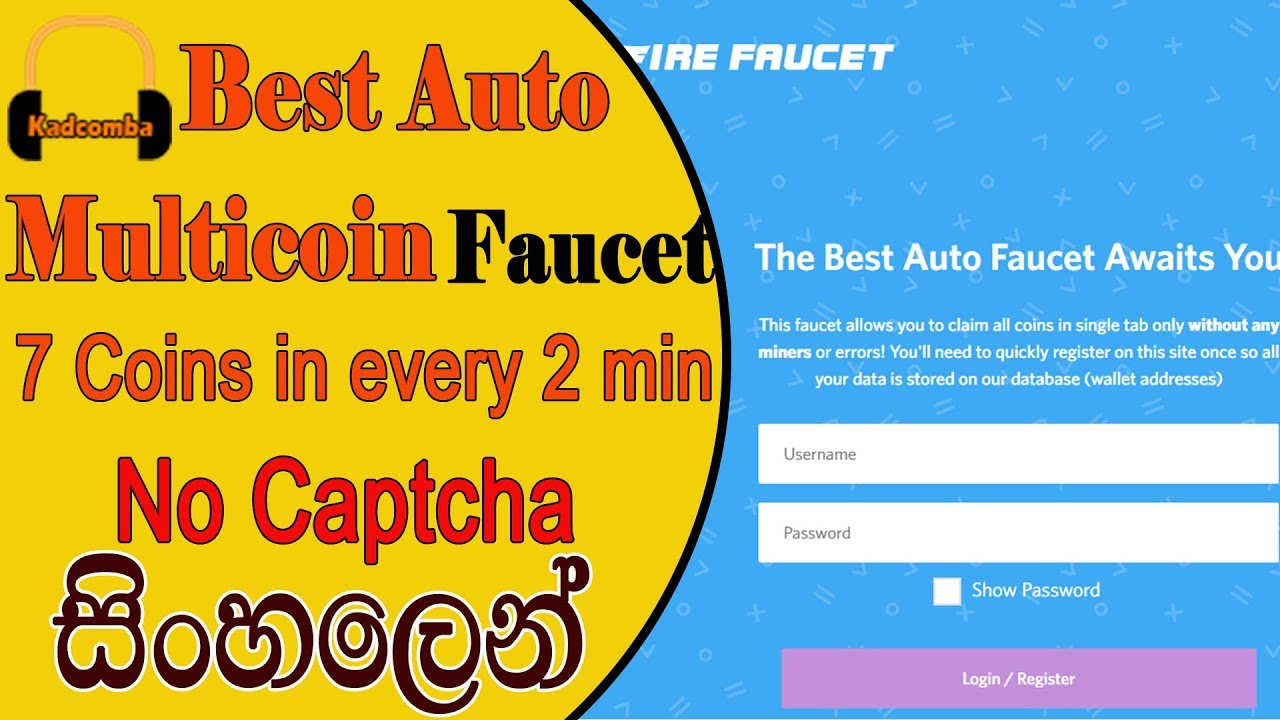 BEST MULTI COIN FAUCET 7 COINS IN 2 MIN FIRE FAUCET
