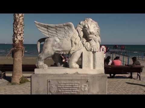 Promenada i Marina w Larnace - Europe's square - Pomnik Zenona z Kition - Cypr